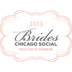 Chicago style brides badge