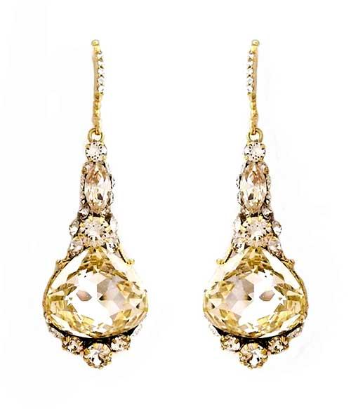 Haute Bride-Rhinestone Drop Earrings