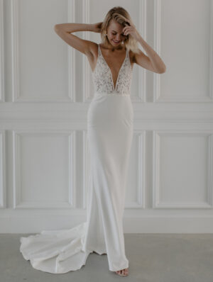 RiverCrepe Bridal Gown by Made With Love