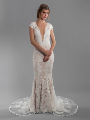 olvis-cap-sleeve-all-lace-deep-v-neck-fit-and-flare-wedding-dress-with-deep-v-back-33862947