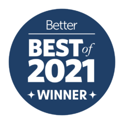 badge award - Best of 2021 by Better Magazine